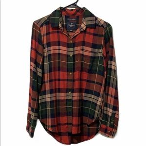 American Eagle Outfitters Boyfriend Fit Flannel